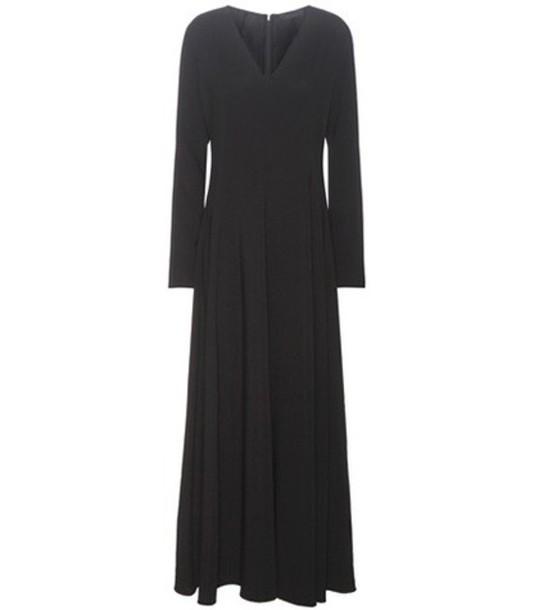 The Row Seri Pleated Maxi Dress in black