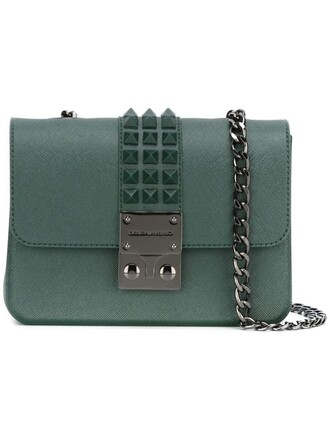 studded bag shoulder bag green