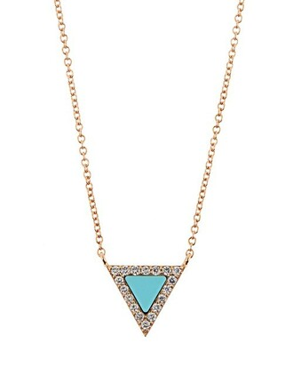 rose necklace gold necklace gold turquoise rose gold jewels