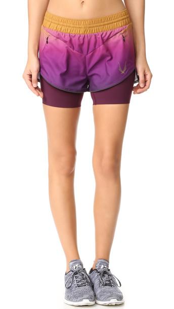 Lucas Hugh Rebel Shorts - Purple Gold