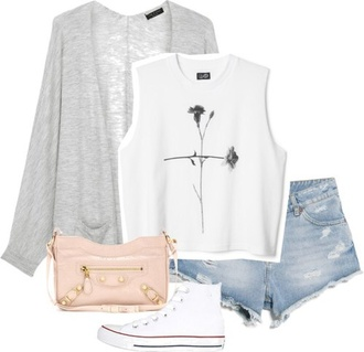 top t-shirt teen wolf fleche white crop tops cardigan