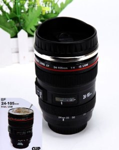 Amazon.com: mango spot® best camera lens thermos stainless steel cup/ mug for coffee or tea (black): kitchen & dining