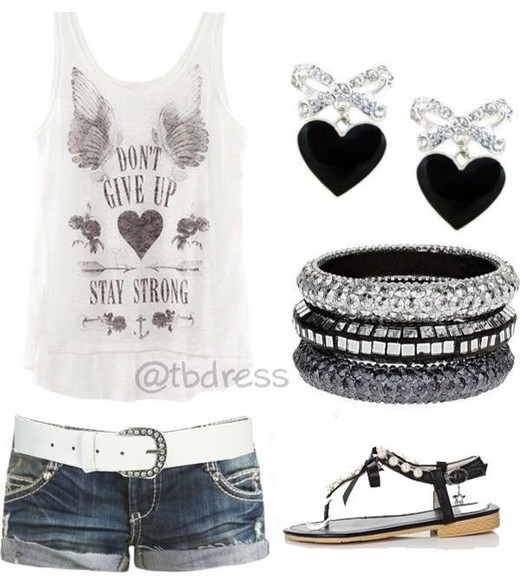 shorts white tank top tank top shoes