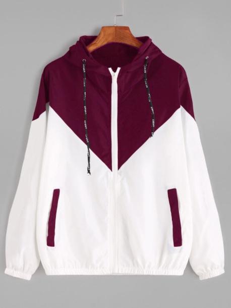 jacket girly white windbreaker