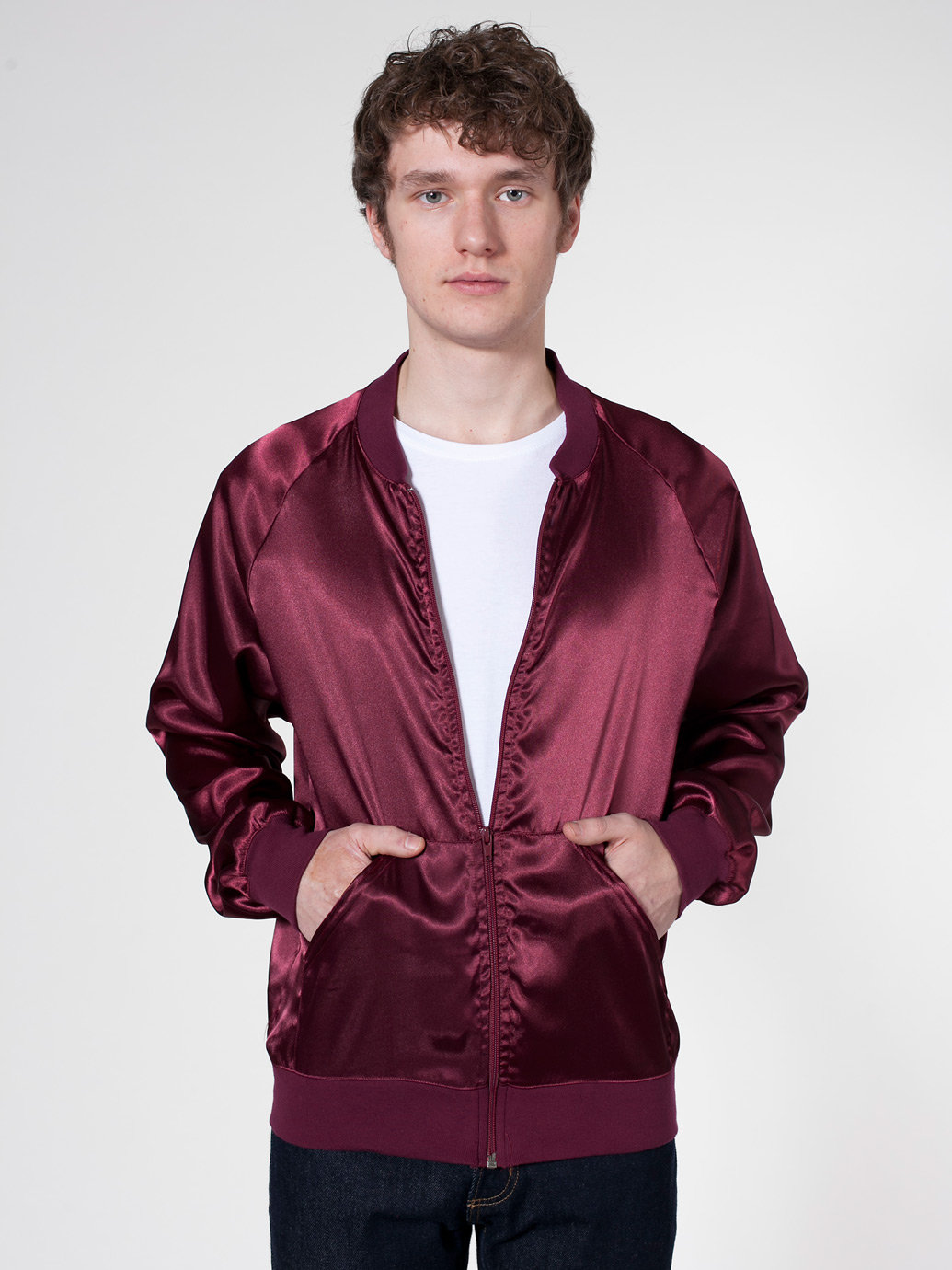 Satin Charmeuse Night Jacket | American Apparel