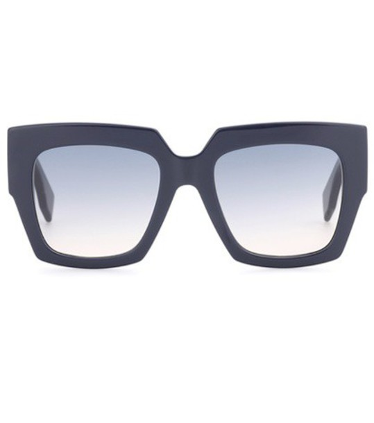 Fendi oversized sunglasses blue