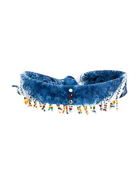 dannijo women beaded necklace choker necklace cotton blue jewels