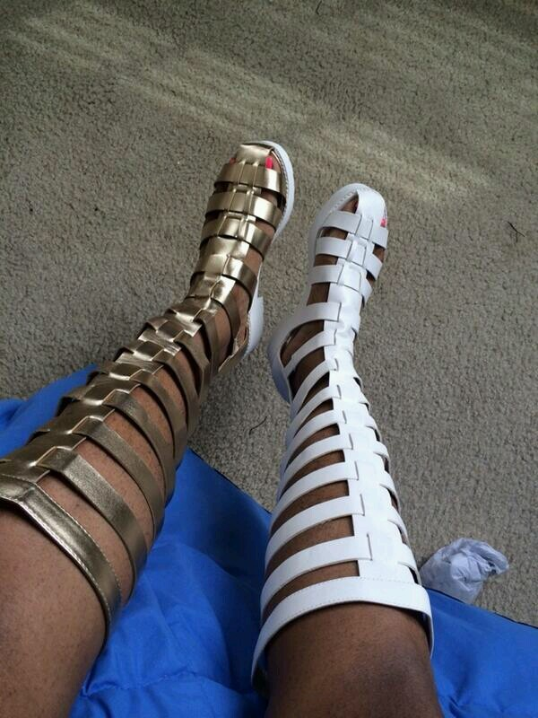 New Ladies Flat Knee High Cut Out Strappy Summer Gladiator