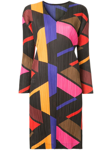 Pleats Please By Issey Miyake dress print dress women geometric print