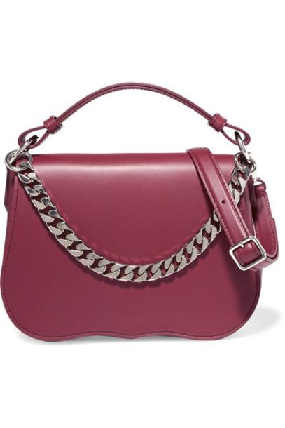 CALVIN KLEIN 205W39NYC bag shoulder bag leather burgundy