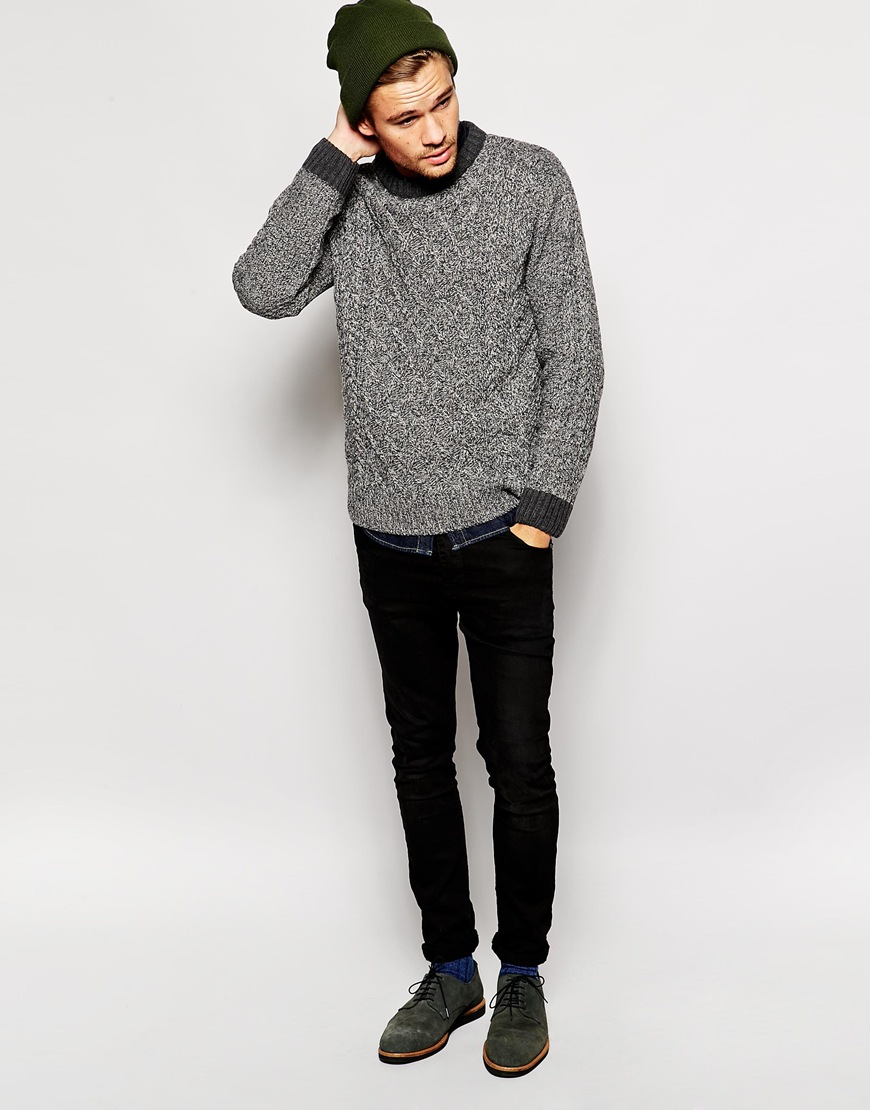River island jumper in cable knit at asos.com