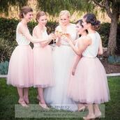skirt,2016 pink bridesmaids tutu tulle skirt,adult women knee length tutu skirt,junior girls bridesmaids tutu skirt,adult tutu skirt,cheap simple tutu skirt,short tutu skirt,tea length tutu skirt,in_marry