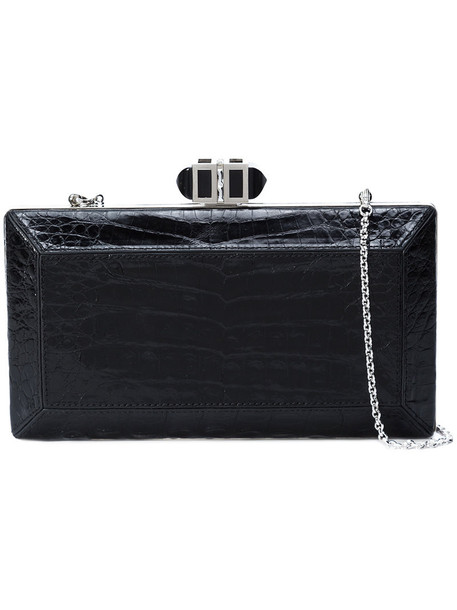 Judith Leiber Couture women bag clutch leather black