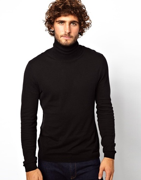 ASOS | ASOS Roll Neck Jumper In Cotton at ASOS