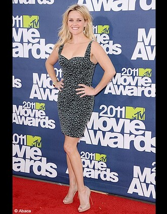 reese witherspoon mtv movie awards grey dress dress