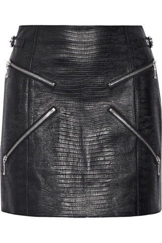 skirt leather skirt black leather skirt zipped skirt alexander wang