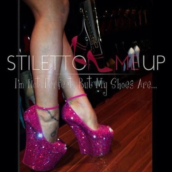 wedge rhinestone heel-less bling ankle strap heels