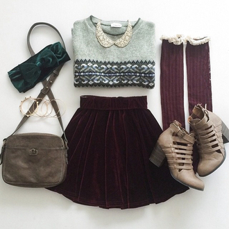 skirt clothes socks shoes knitwear