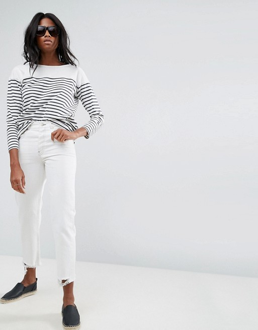 nice cheap lowest discount new product ASOS FLORENCE Authentic Straight Leg Jeans in Off White with ...