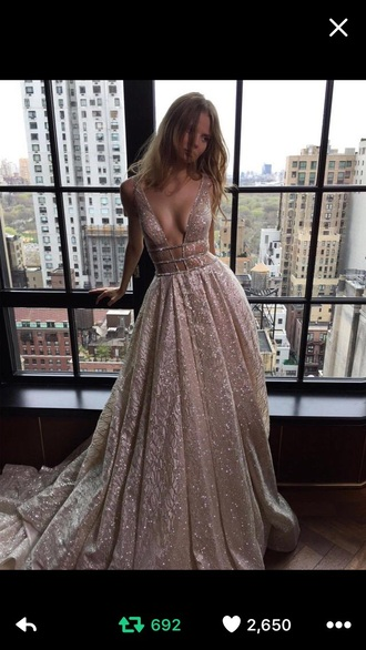 dress nude nude dress pink pink dress girl girly wishlist sparkle sparkly dress pretty fashion prom dress prom prom gown prom beauty v neck dress plunge v neck sexy prom dress backless prom dress sequin prom dress evening dress long evening dress evening outfits formal dress formal event outfit