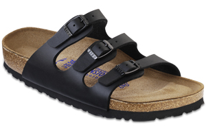 Florida Soft Footbed Black Birko-Flor Sandals | Birkenstock USA Official Site