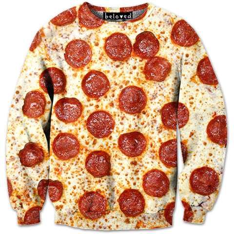 Pepperoni Pizza Sweatshirt | Belovedshirts