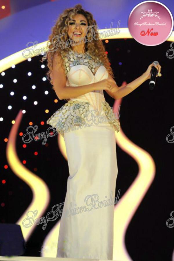 dress myriam fares sexy long dress fashion celebrity style