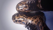 shoes,boots,plastic,sneakers,marteens,cool,rain,leopard print,print animal,wellies