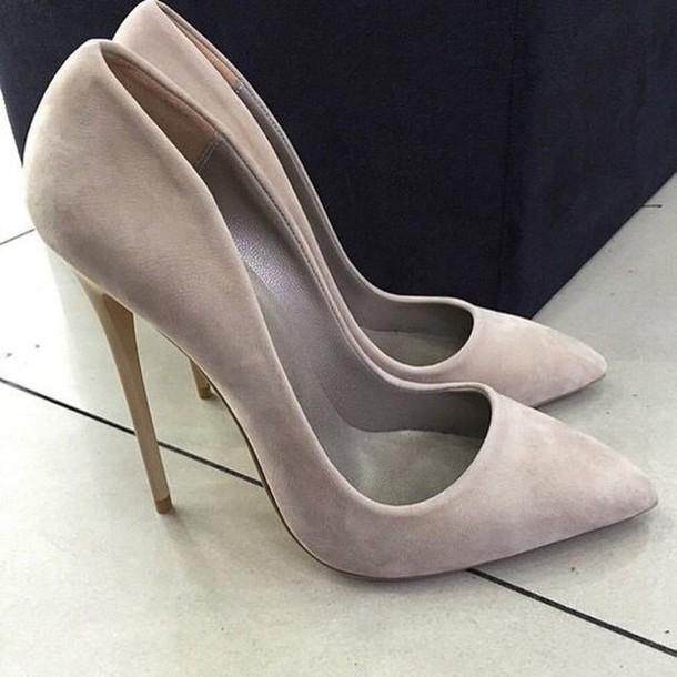 d25f893c86d shoes nude pumps nude heels nude high heels nude shoes gray shoes grey  shoes grey heels