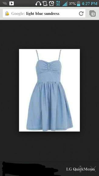 sundress baby blue
