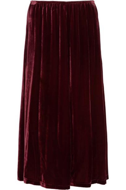 McQ Alexander McQueen skirt midi skirt midi velvet burgundy