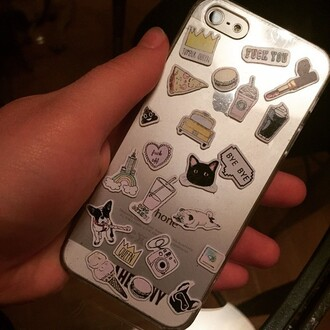home accessory yeah bunny iphone stickers stickers girly