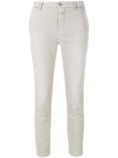 women spandex fit cotton grey pants