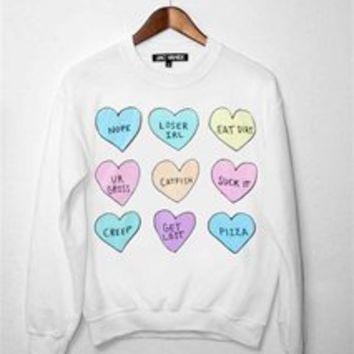 Mean hearts unisex crew neck sweatshirt