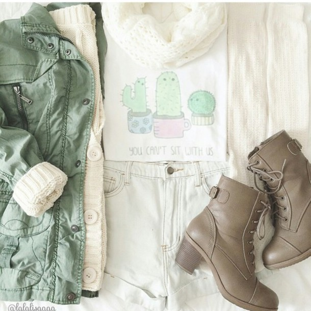 jacket top shoes