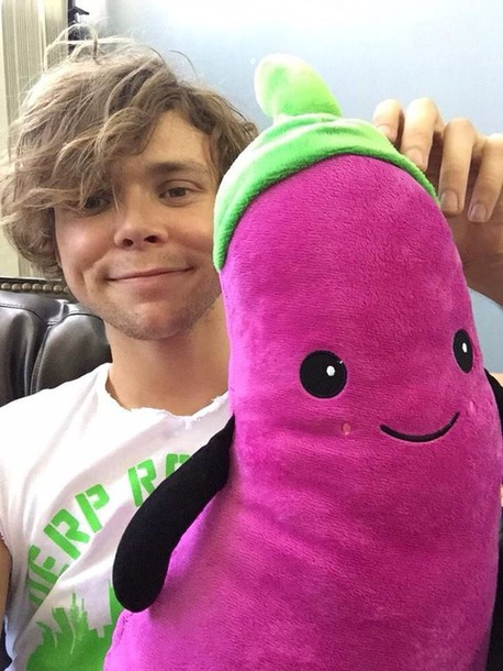hat cuddly toy vegetables 5 seconds of summer cuddle stuffed