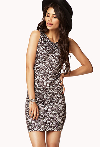 Lace Print Bodycon Dress | FOREVER21 - 2053344069