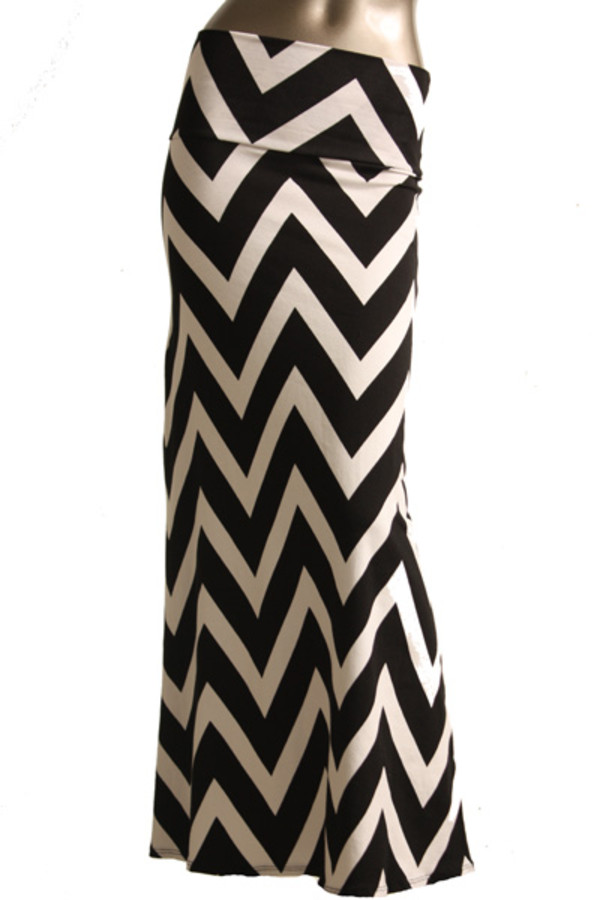 skirt chevron maxi skirt maxi
