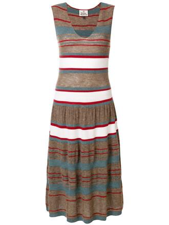 dress knitted dress sleeveless women wool brown