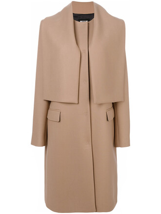 coat women spandex nude wool