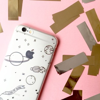 phone cover yeah bunny space stars universe moon spaceship iphone case iphone cover