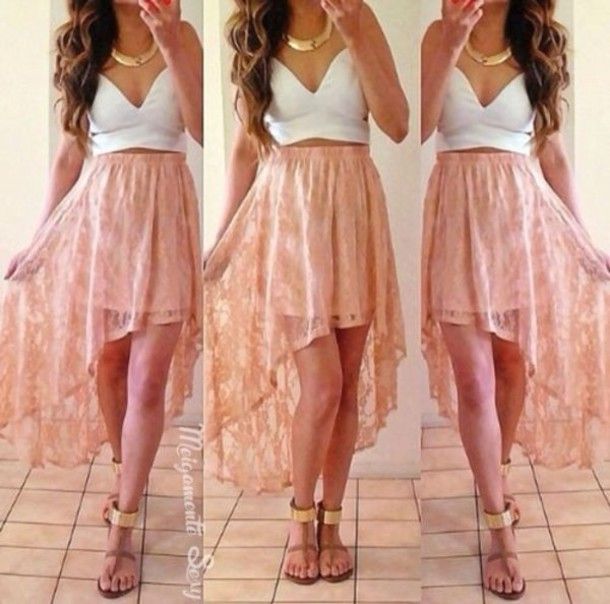 skirt pink amazing skirt nice wonderful pink white long pink or orange beaty amazing