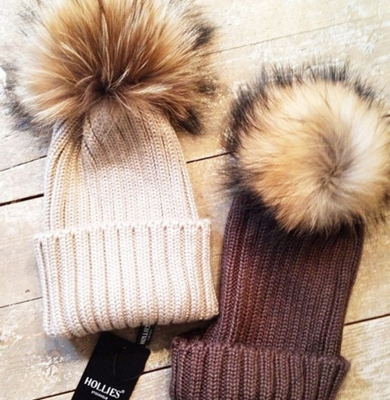 brown hat fur hat winter bobble hat warmth knitwear