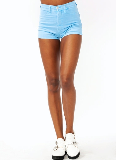 high-waisted-denim-shorts LTBLUE MINT SALMON - GoJane.com