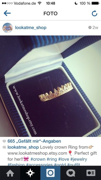 jewels gold gold gold ring crown