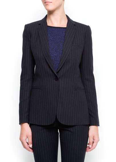 MANGO - NEW - Pin-striped blazer
