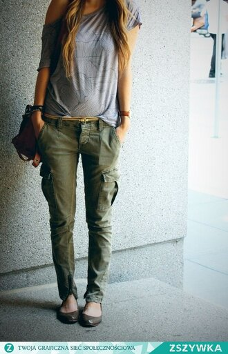 pants clothes blouse shoes grey shirt