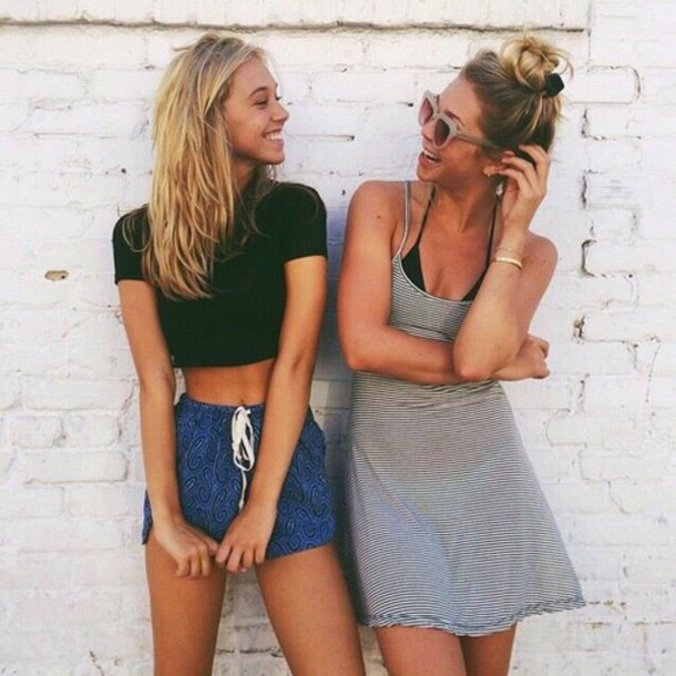 shorts alexis ren model brandy melville blue shorts style beach blue tied shorts drawstring friends