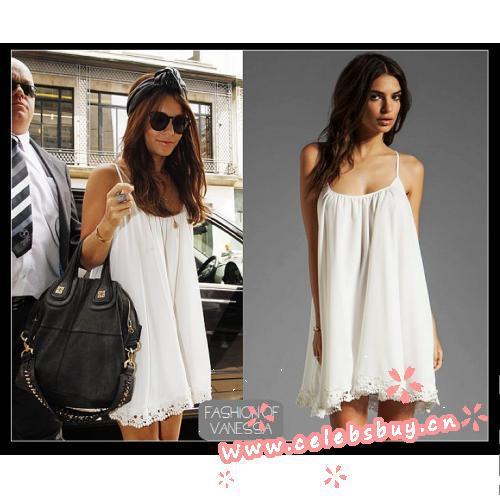 Vanessa hudgens white flowy dress_new arrivals(446)_celebrity dress online shopping prom dress