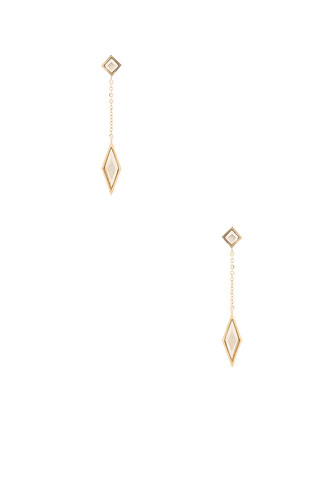 earrings metallic gold